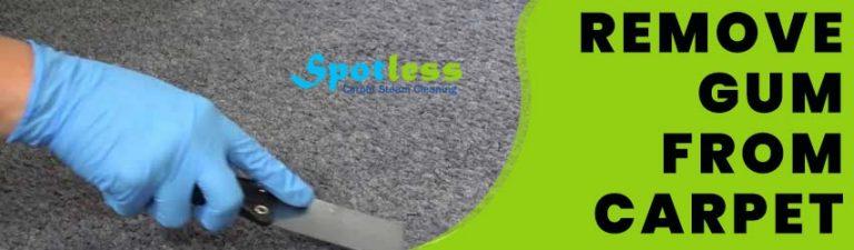 Remove Gum From Carpet